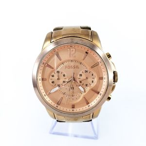 Fossil Statement Watch Rose Gold Chronometer